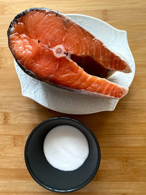 Фото рецепта - Лосось слабосоленый (как засолить рыбу) - шаг 1