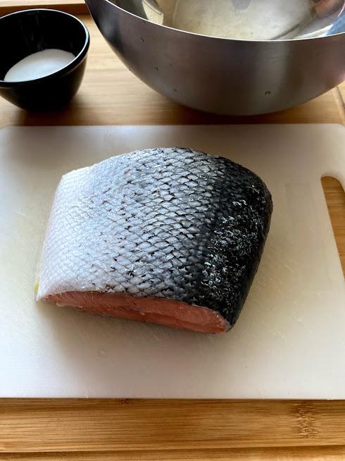 Фото рецепта - Лосось слабосоленый (как засолить рыбу) - шаг 2