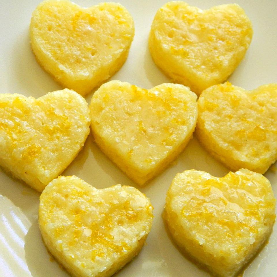 Лимонные пирожные с глазурью