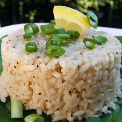 Лимонный рис - рецепт с фото