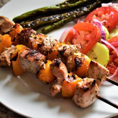 Шашлык из свинины с перцем - рецепт с фото