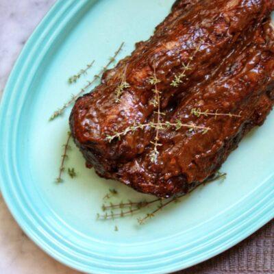 Запеченная свинина медленного приготовления - рецепт с фото