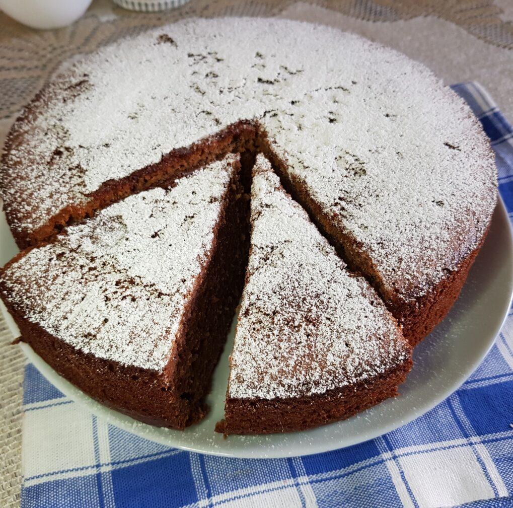 Фото рецепта - Шоколадный пирог с сахарной пудрой - шаг 7
