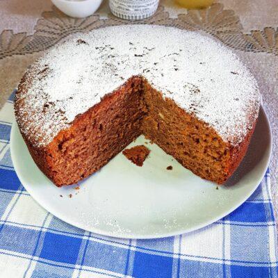 Шоколадный пирог с сахарной пудрой - рецепт с фото