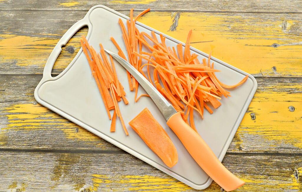 Фото рецепта - Домашняя морковка по-корейски (без терки) - шаг 3