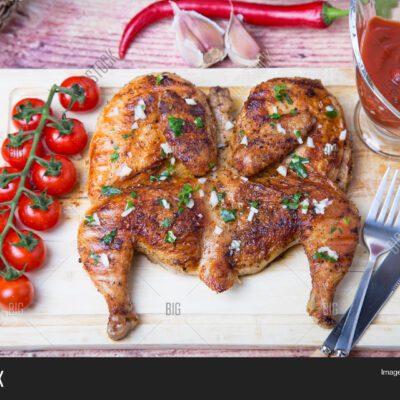 Цыпленок табака в духовке - рецепт с фото
