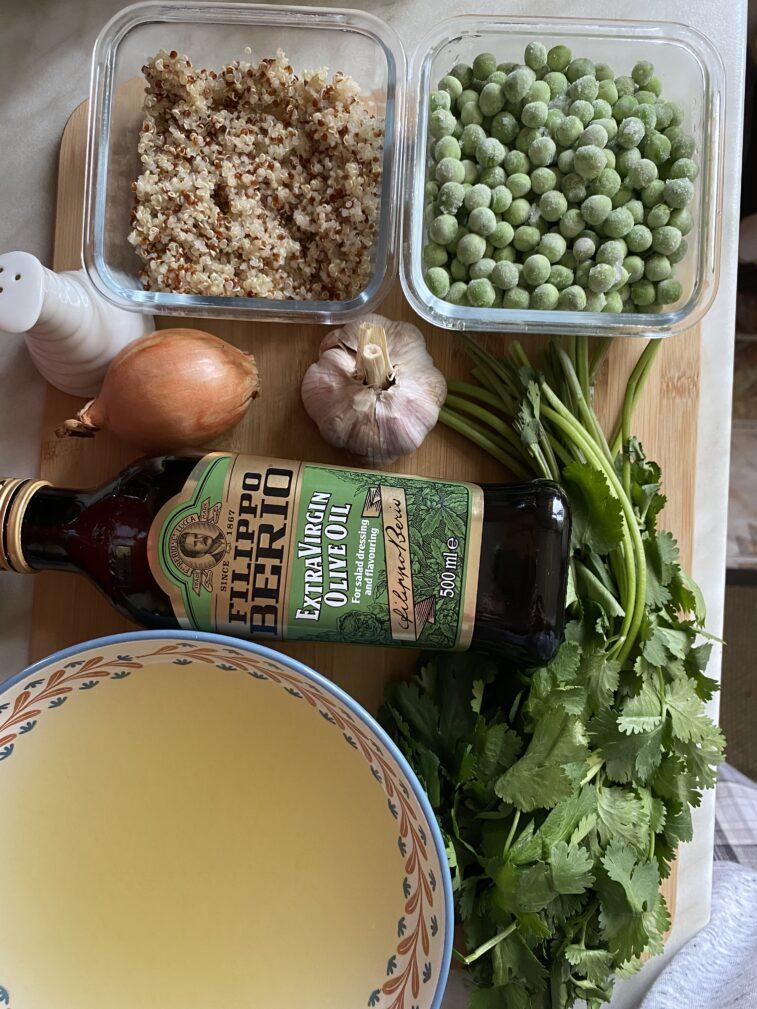 Фото рецепта - Гороховый суп по-перуански с кинзой и киноа - шаг 1