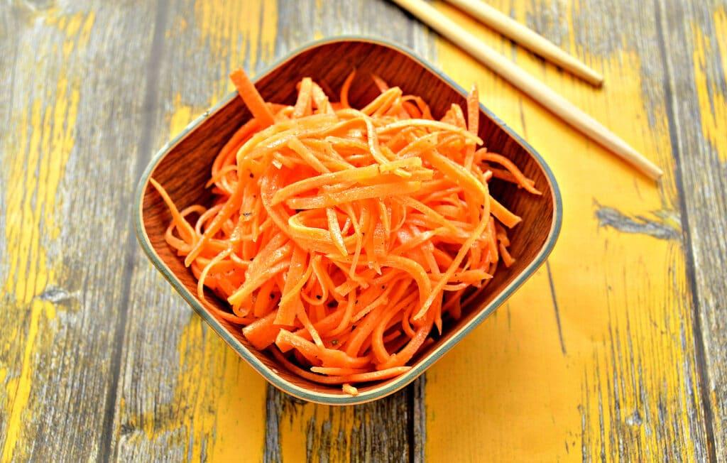 Фото рецепта - Домашняя морковка по-корейски (без терки) - шаг 6