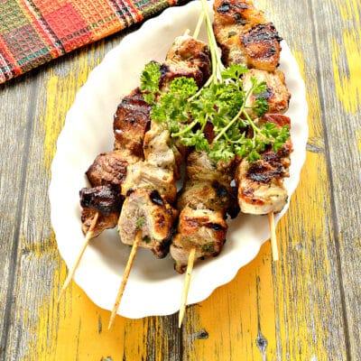 Шашлык из свинины на сковороде - рецепт с фото