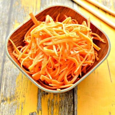 Домашняя морковка по-корейски (без терки) - рецепт с фото