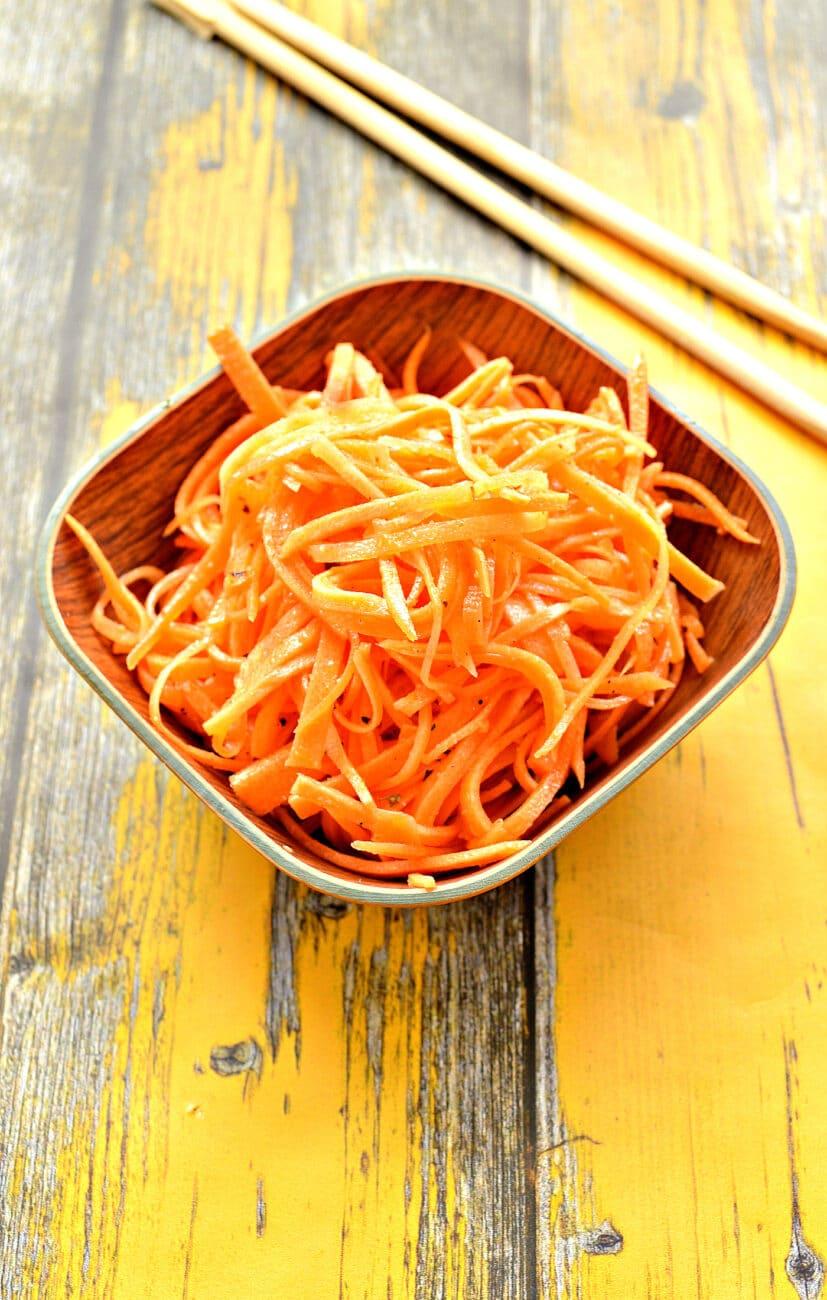 Домашняя морковка по-корейски (без терки)
