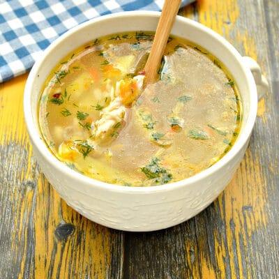 Рисовый суп на мясном бульоне - рецепт с фото