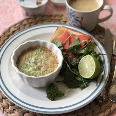 Белковая запеканка с брокколи - рецепт с фото