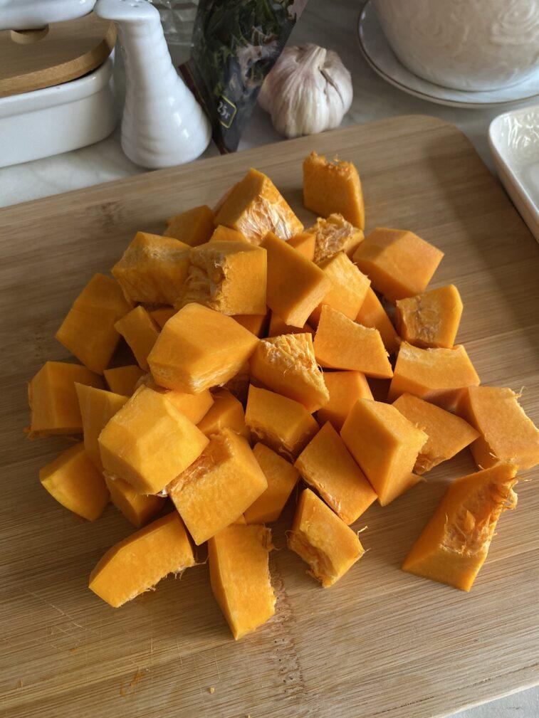 Фото рецепта - Запеченная тыква с индейкой в медовом соусе - шаг 3