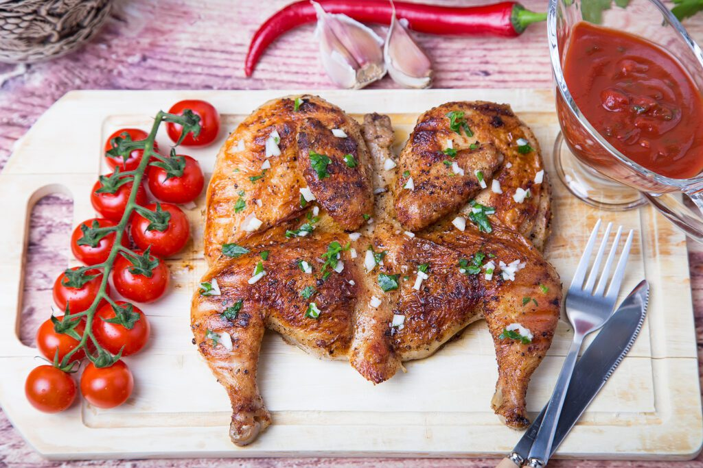 Фото рецепта - Цыпленок табака в духовке - шаг 6