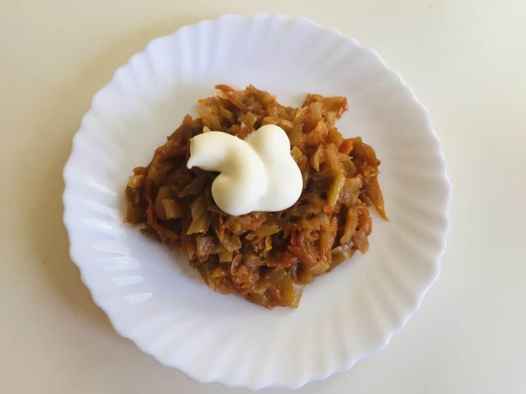 Фото рецепта - Тушёные овощи на сковороде - шаг 8