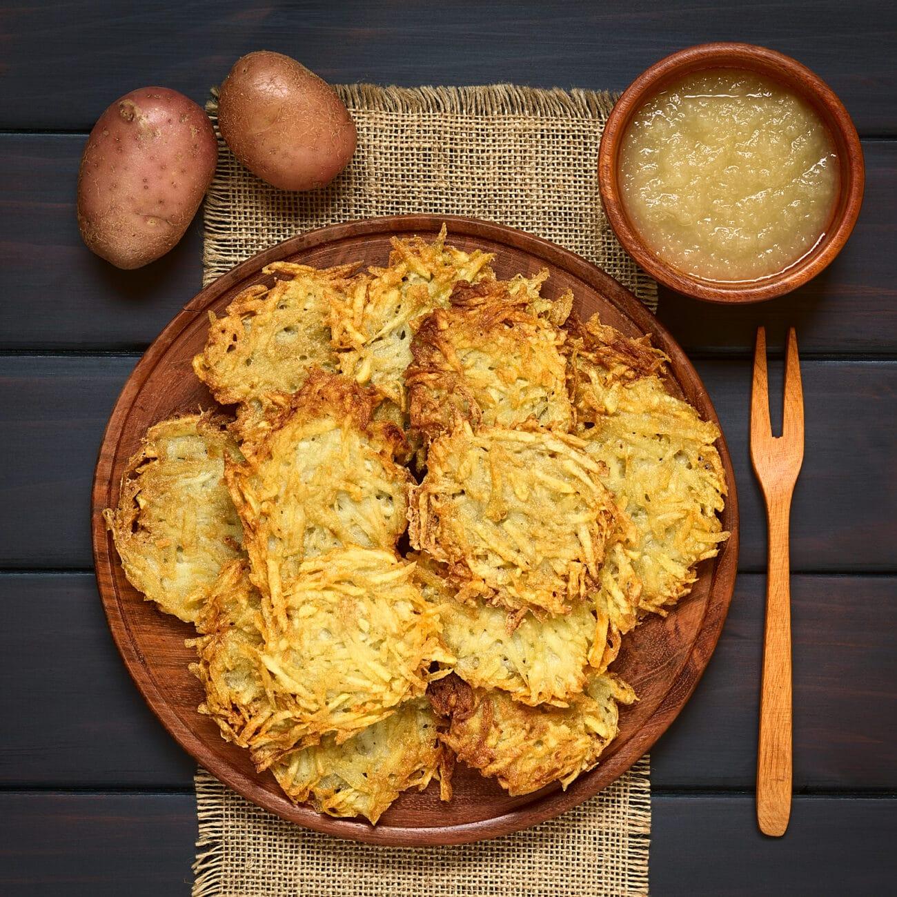 Хрустящие драники из картофеля в кожуре