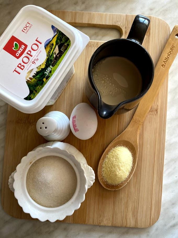 Фото рецепта - Творожная запеканка без муки - шаг 1