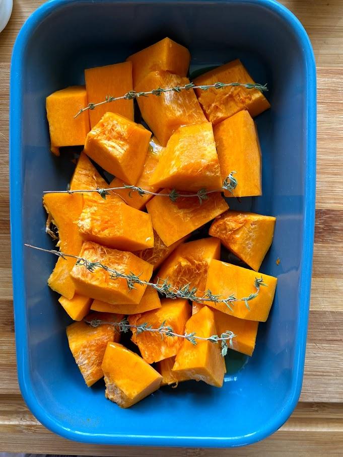 Фото рецепта - Крем-суп из печёной тыквы - шаг 3