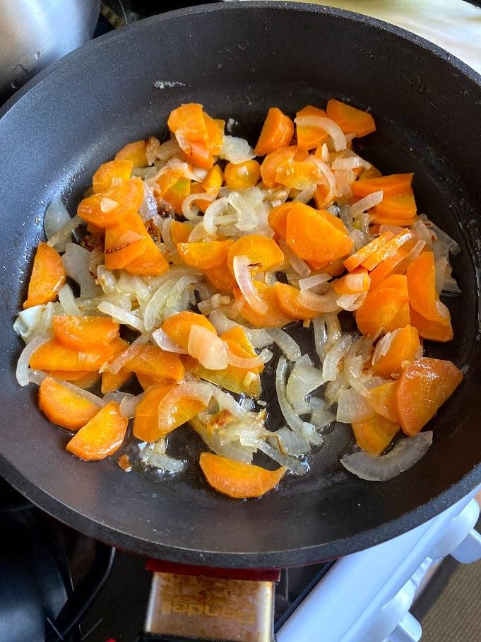 Фото рецепта - Крем-суп из печёной тыквы - шаг 5