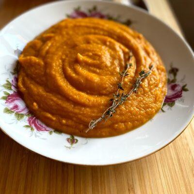 Крем-суп из печёной тыквы - рецепт с фото