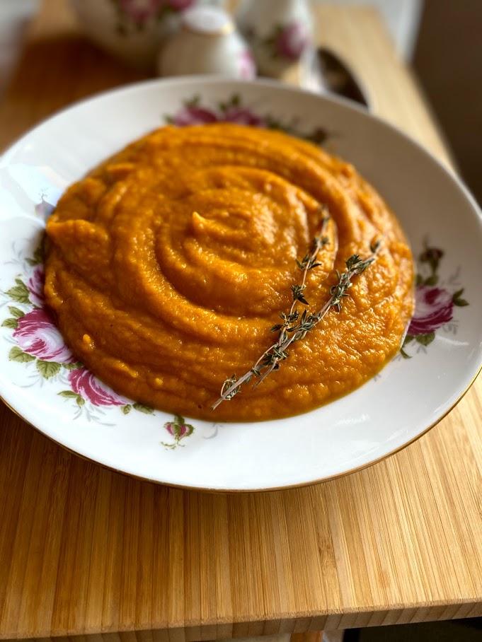 Крем-суп из печёной тыквы