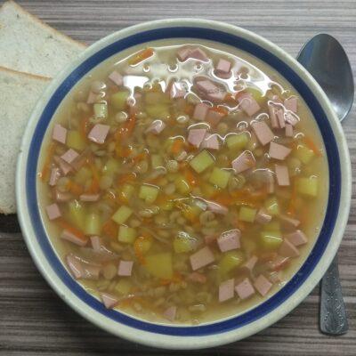 Гороховый суп с сардельками - рецепт с фото