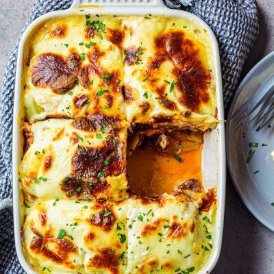 Картофельная запеканка с фаршем - рецепт с фото