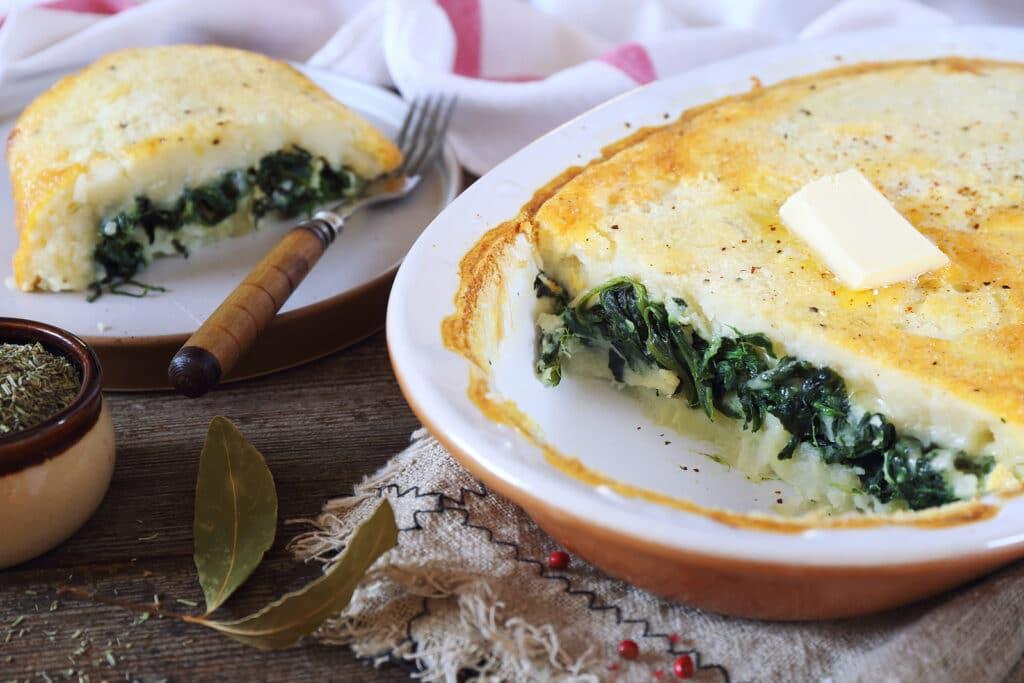 Фото рецепта - Картофельная запеканка со шпинатом - шаг 5