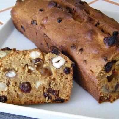 Ореховый кекс с вишней - рецепт с фото