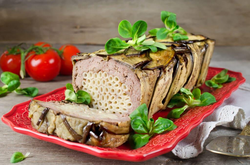 Фото рецепта - Мясной террин с пастой и баклажанами - шаг 7