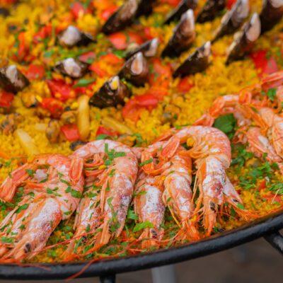 Паэлья с морепродуктами - рецепт с фото