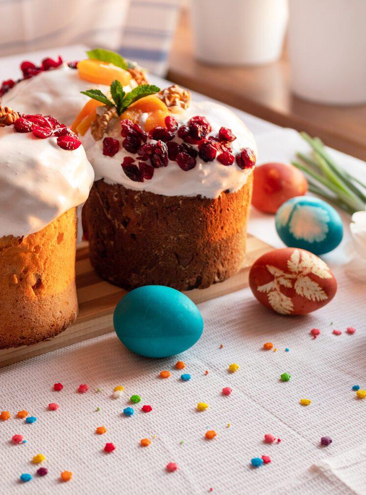 Фото рецепта - Творожный кулич с цукатами и орехами - шаг 8