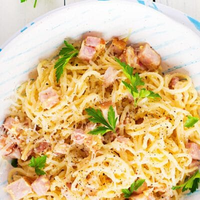 Паста карбонара со сливками и сыром - рецепт с фото