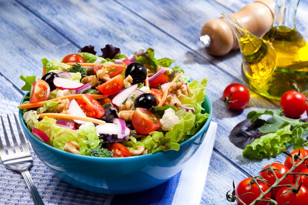 Легкий ПП салат с тунцом