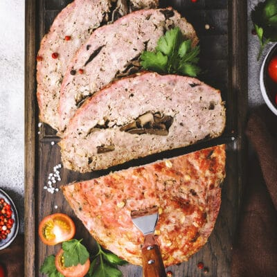 "Мясной ""хлеб"" из фарша с грибами - рецепт с фото"