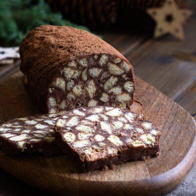 Сладкая шоколадная колбаска - рецепт с фото