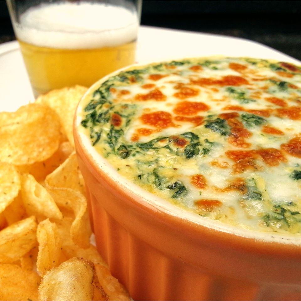 Сливочный сырный соус со шпинатом