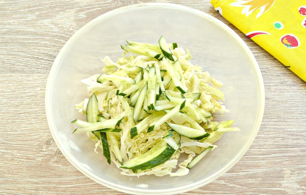 Фото рецепта - Капустный салат со сладким соусом - шаг 2