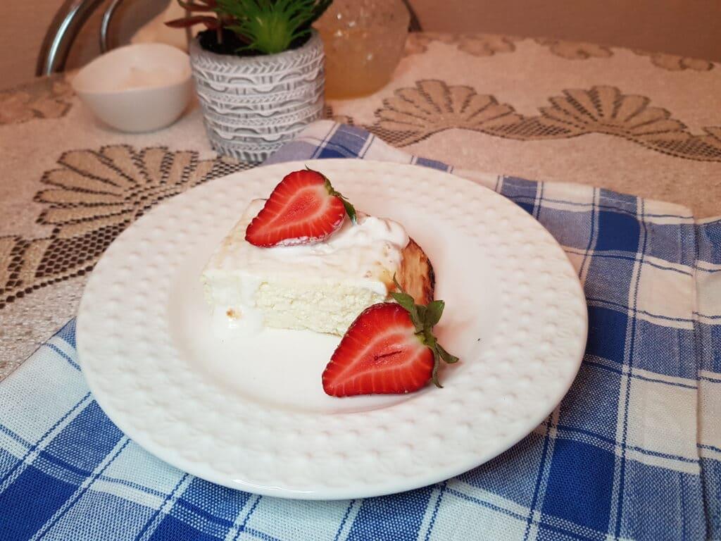 Фото рецепта - Творожная запеканка без муки - шаг 5