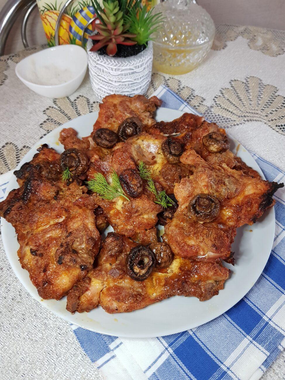 Куриные бёдрышки без кости в духовке