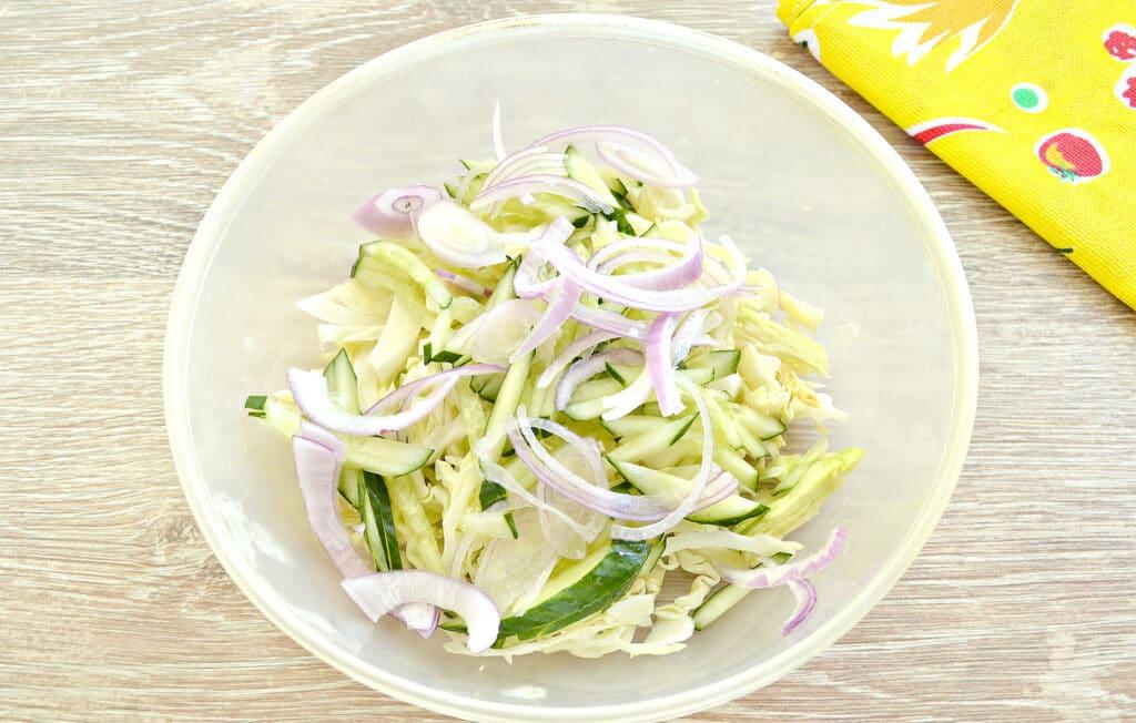 Фото рецепта - Капустный салат со сладким соусом - шаг 3