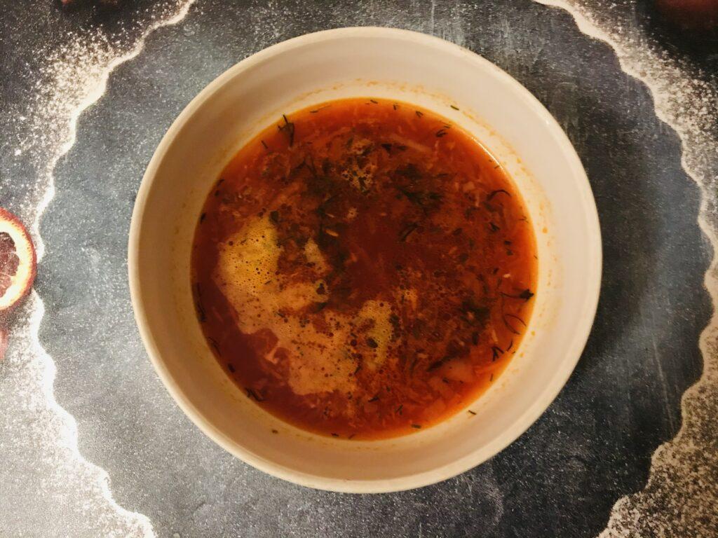 Фото рецепта - Красный борщ без мяса и капусты - шаг 5
