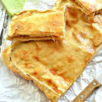 Слоеный капустный пирог - рецепт с фото