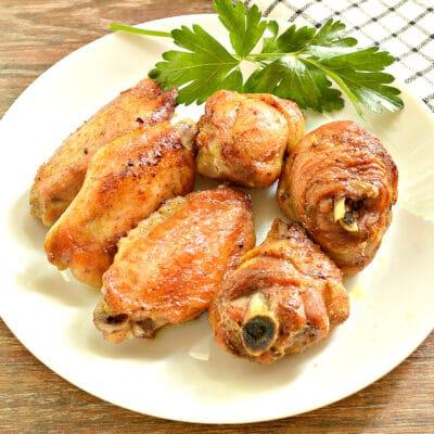 Куриные крылышки, запечённые в пиве, в духовке - рецепт с фото