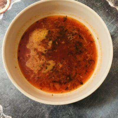 Красный борщ без мяса и капусты - рецепт с фото
