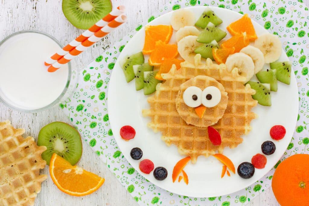 Фото рецепта - Детские вафли с фруктами - шаг 6