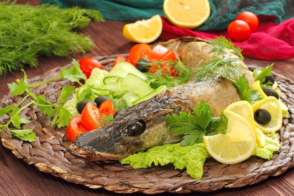 Фото рецепта - Фаршированная щука кабачком и грибами - шаг 5