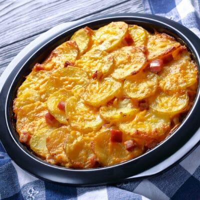 Гратин (гратен) - запечённый картофель со сливками и сыром