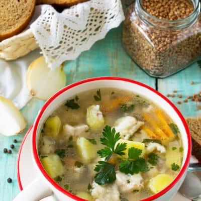 Гречневый суп с клёцками